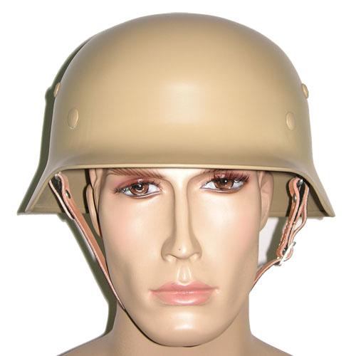 WW2 German Steel M35 Helmet in Sand Yellow - £54 99