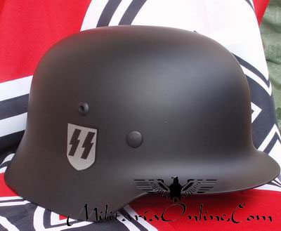 WW2 German SS Black M35 Helmet Decals Complete