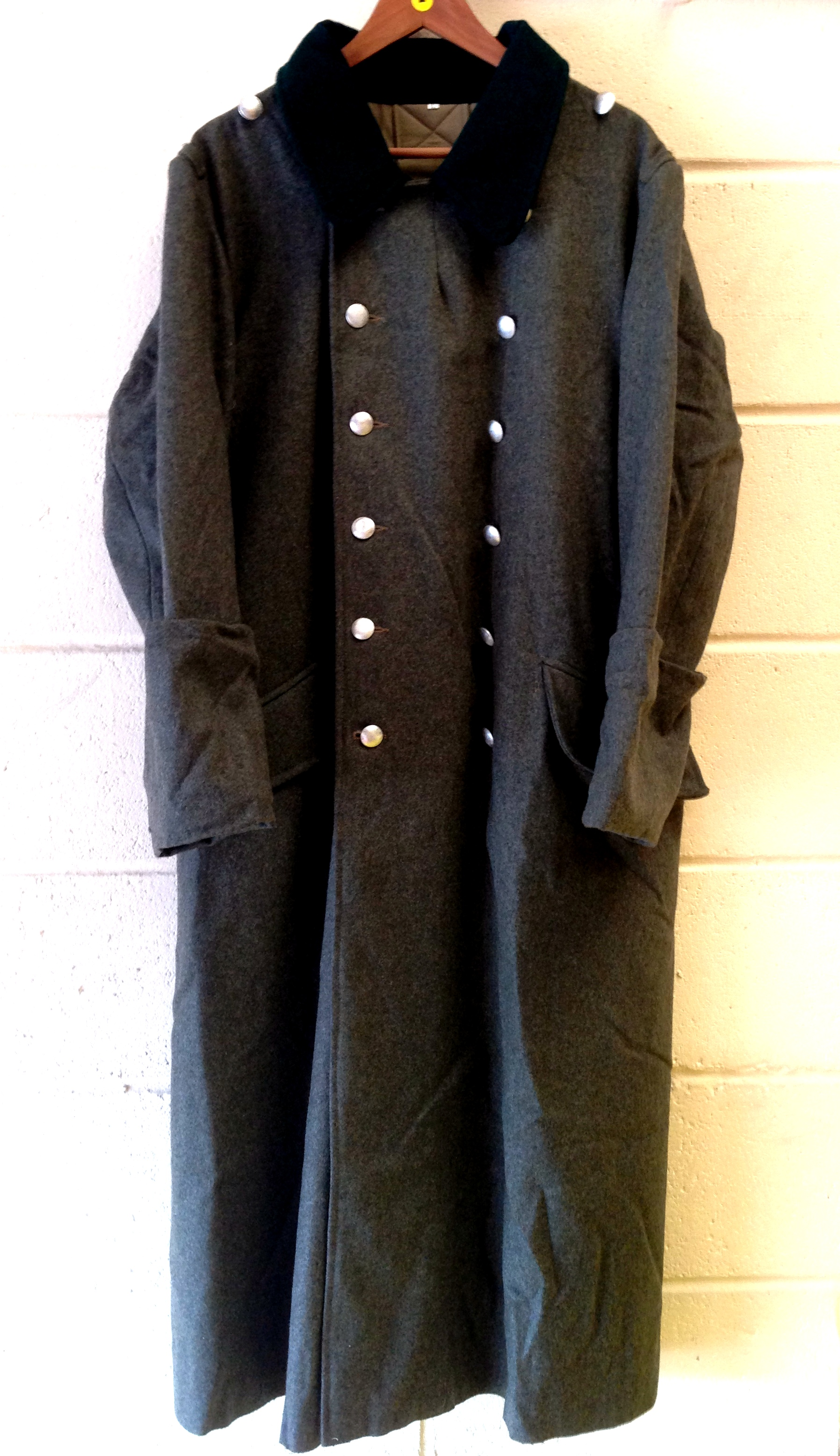 WW2 German Heer M36 Field Green Wool Greatcoat - Click Image to Close